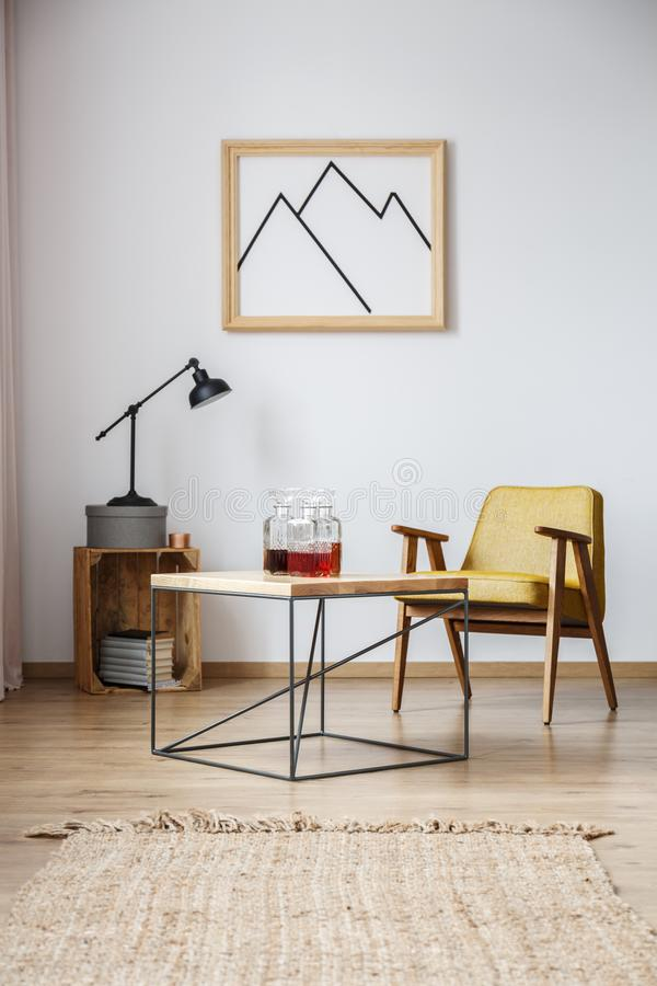 Free Table With Lamp And Frame Stock Image - 103916831