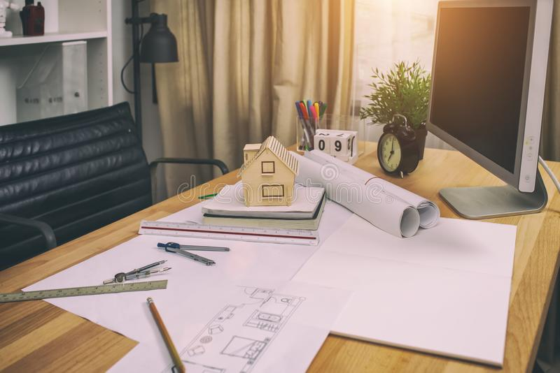 table work architects concept royalty free stock photos