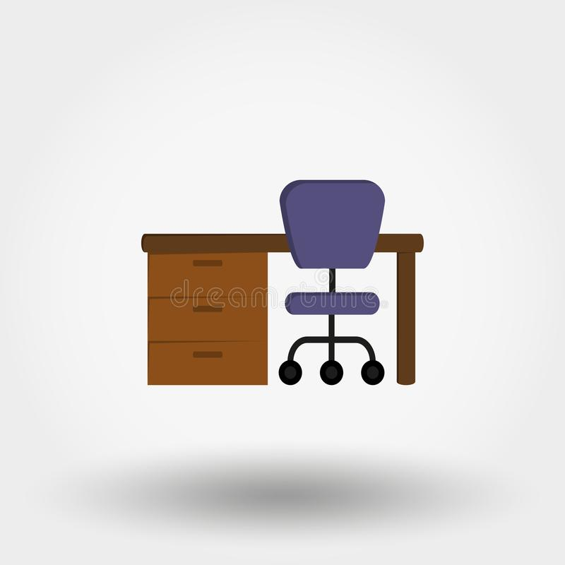 Table. Workplace. Vector illustration. royalty free illustration