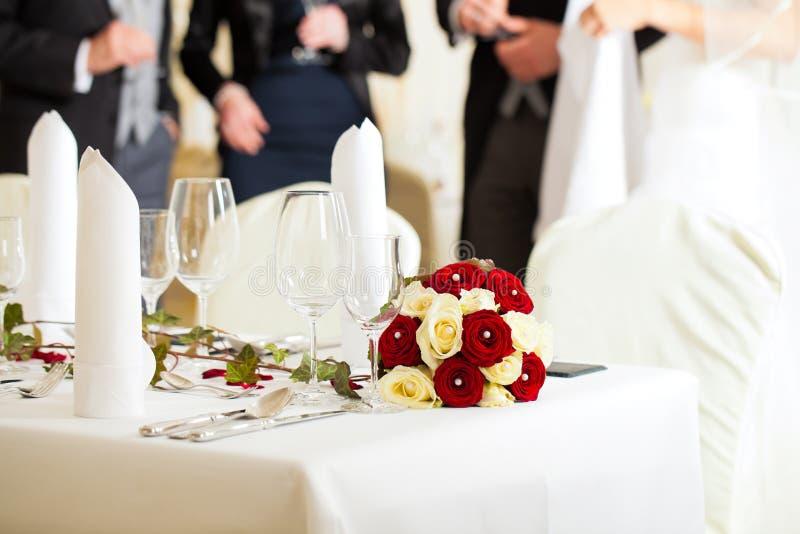 Tableau à un régal de mariage photos stock