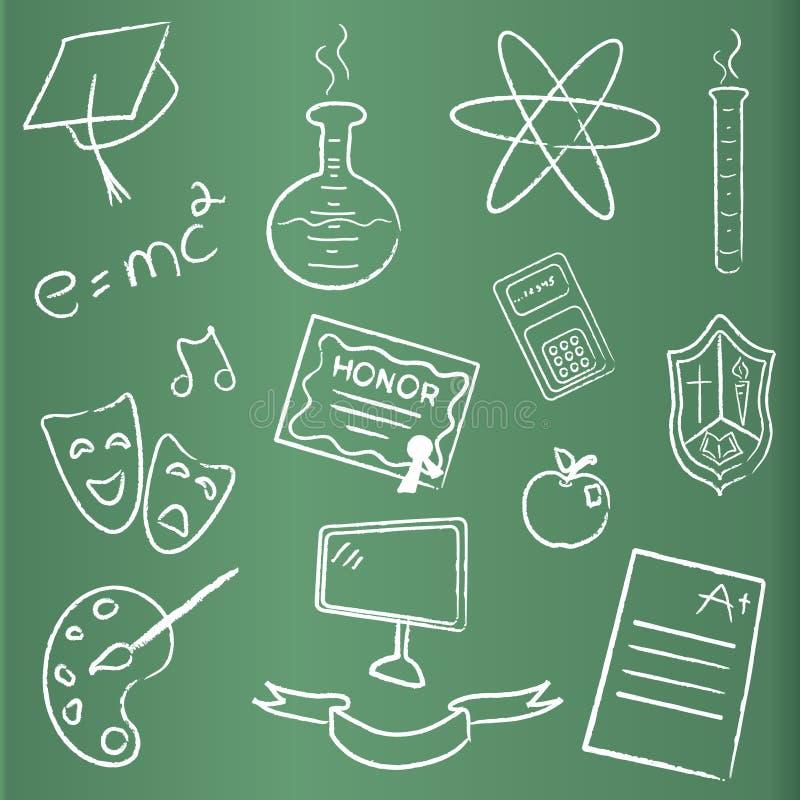 Download Tableau Avec Des Graphismes De Graduation Illustration Stock - Illustration du blackboard, drapeau: 8670666
