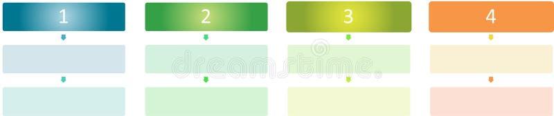 Tableau blanc d'affaires de management illustration stock