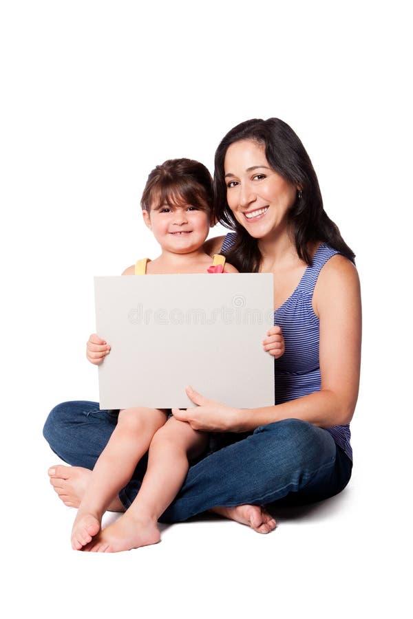 Tableau blanc de Childcare photos libres de droits