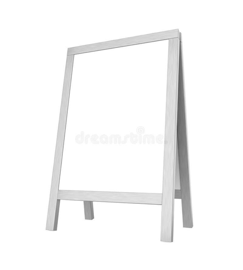 Tableau blanc de trottoir d'isolement illustration de vecteur