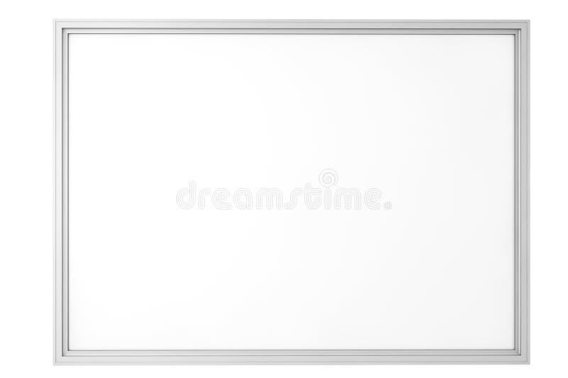 Tableau blanc vide de salle de classe illustration stock