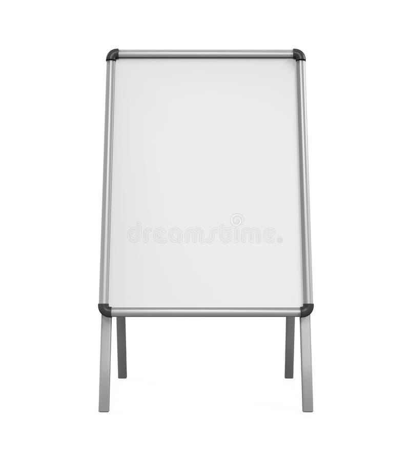 Tableau blanc vide de trottoir illustration libre de droits
