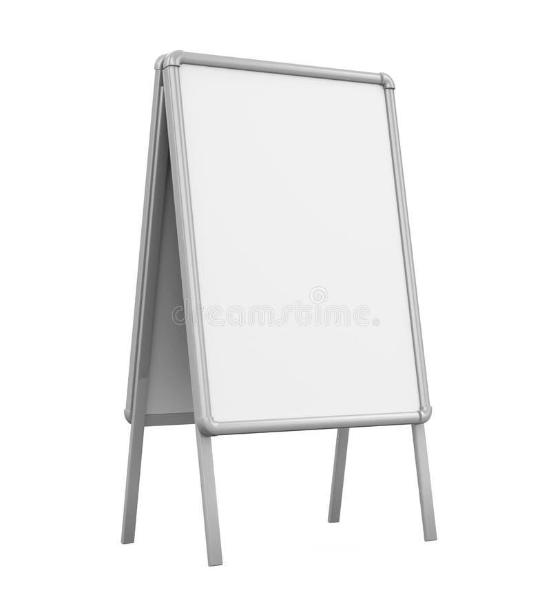 Tableau blanc vide de trottoir illustration de vecteur