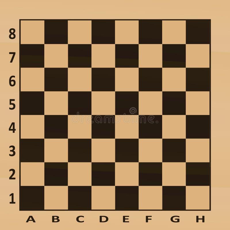 Tableau d'échecs Vue supérieure illustration stock