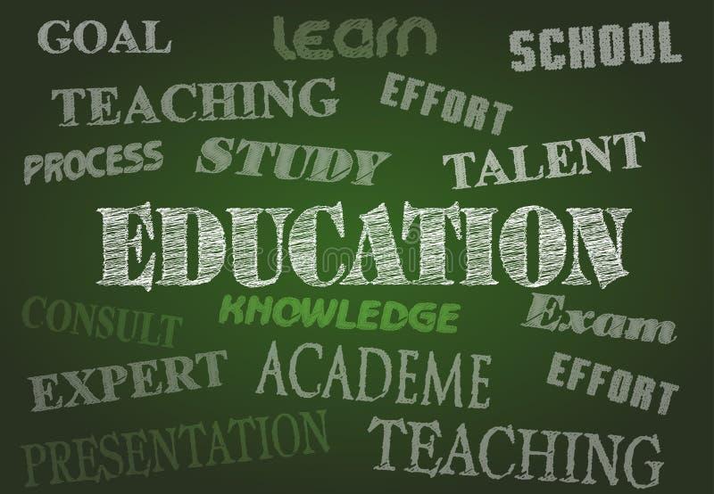 Tableau d'éducation illustration libre de droits