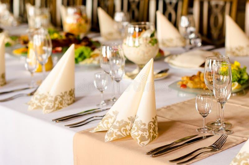 Tableau de banquet photo libre de droits