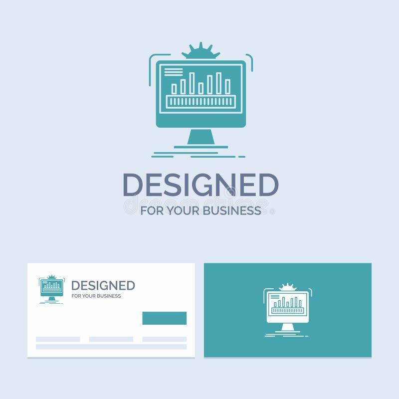 tableau de bord, admin, moniteur, surveillance, traitant des affaires Logo Glyph Icon Symbol pour vos affaires Cartes de visite p illustration stock