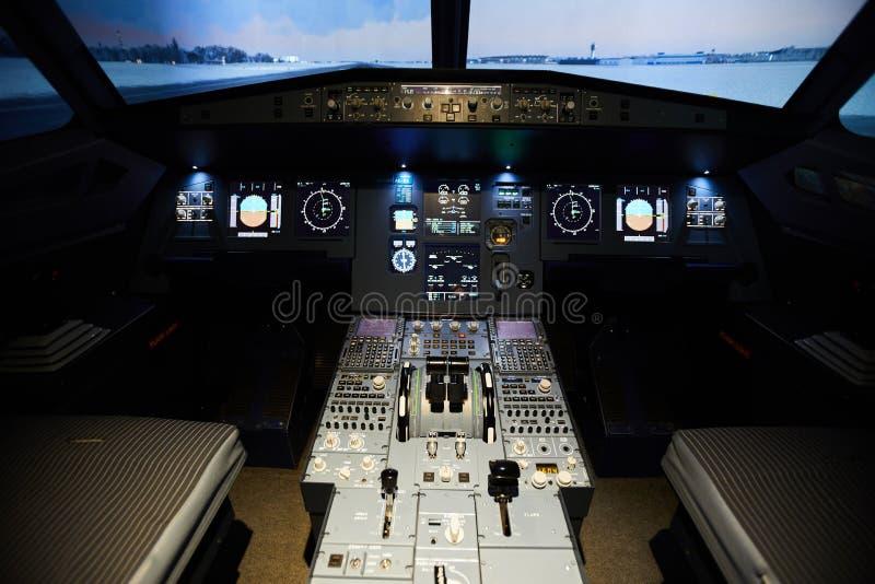 Tableau de bord d'avions image stock