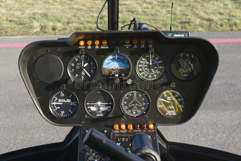 Tableau de bord d'hélicoptère photo libre de droits