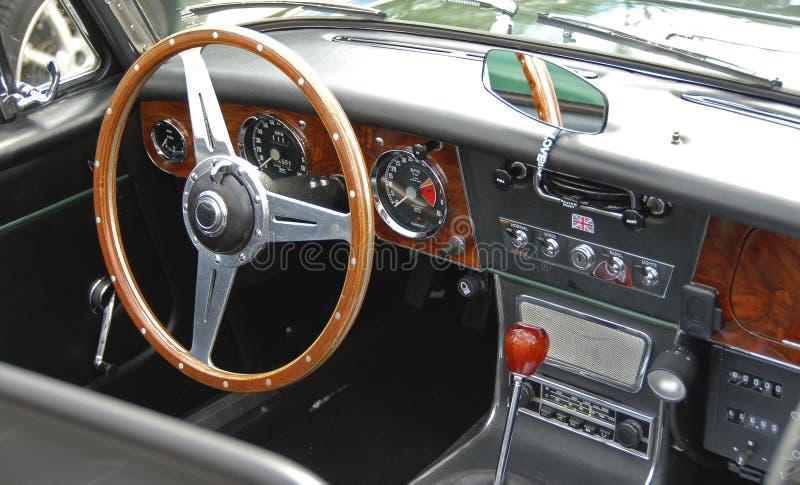 Tableau de bord d'un roadster anglais #1 images libres de droits