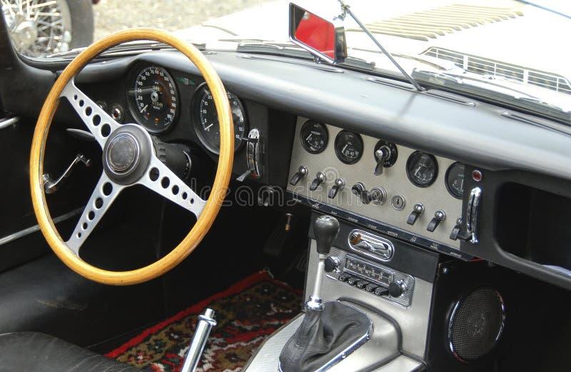 Tableau de bord d'un roadster anglais #2 images libres de droits