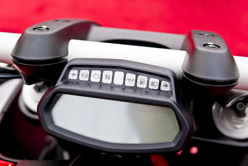 tableau de bord de moto image stock image du compteur 24170911. Black Bedroom Furniture Sets. Home Design Ideas