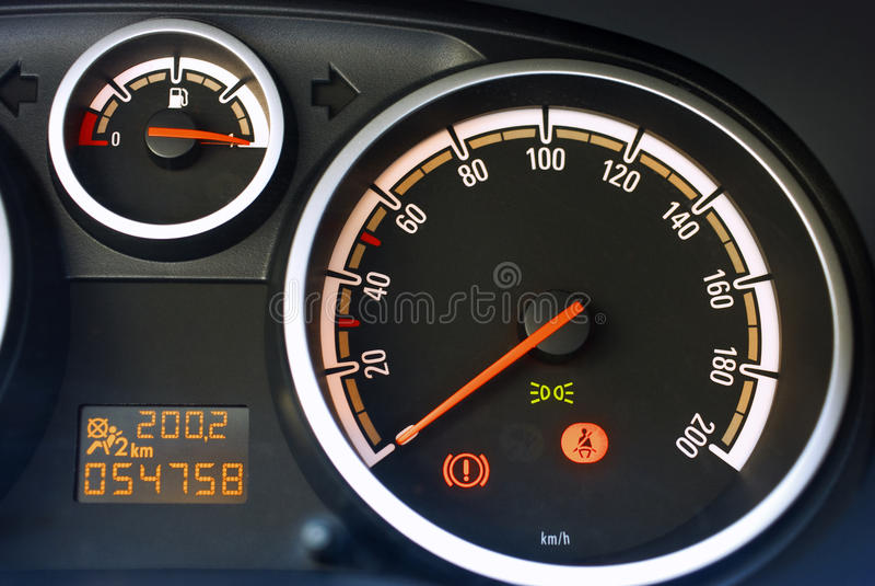 Tableau de bord de véhicule photos stock