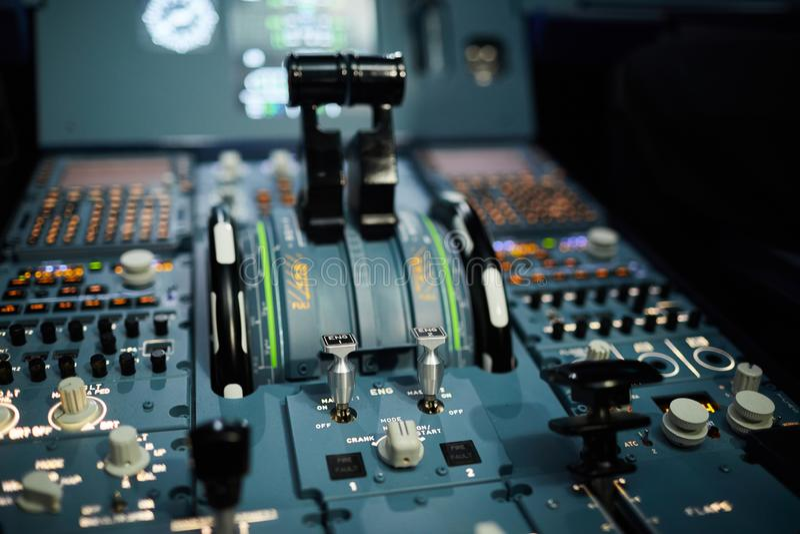 Tableau de bord des avions photos stock