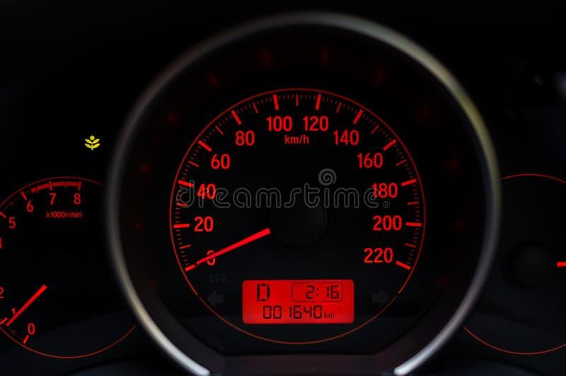 Tableau de bord de voiture de kilomètrage photo libre de droits