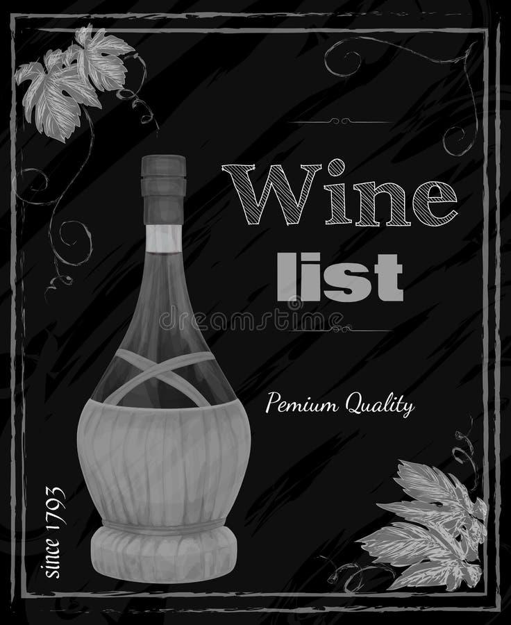 Tableau de carte des vins illustration libre de droits