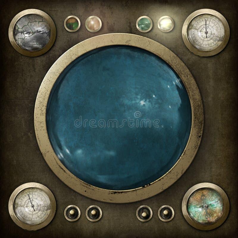 Tableau de commande de Steampunk illustration libre de droits