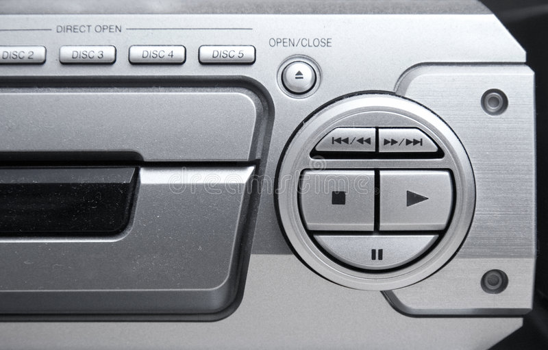 Tableau de commande sonore de système photographie stock