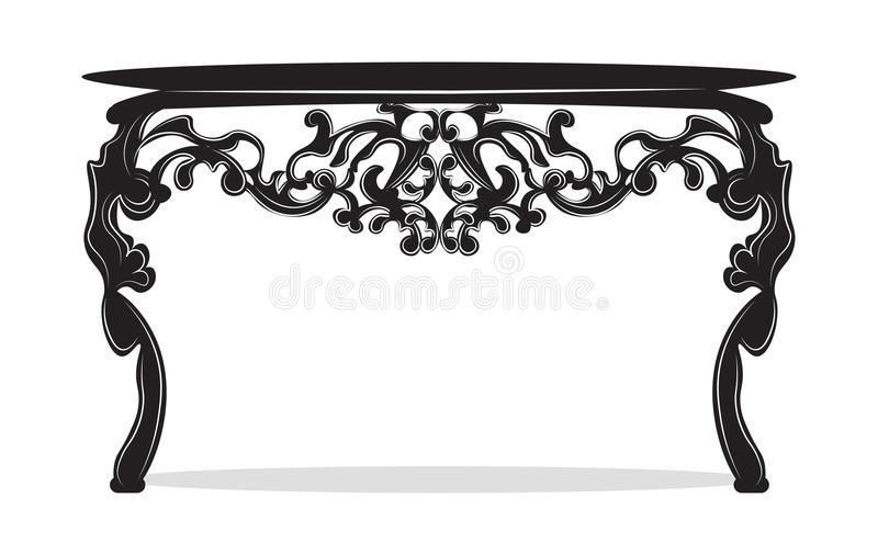 tableau de commode de rich baroque illustration de vecteur illustration du classique details. Black Bedroom Furniture Sets. Home Design Ideas