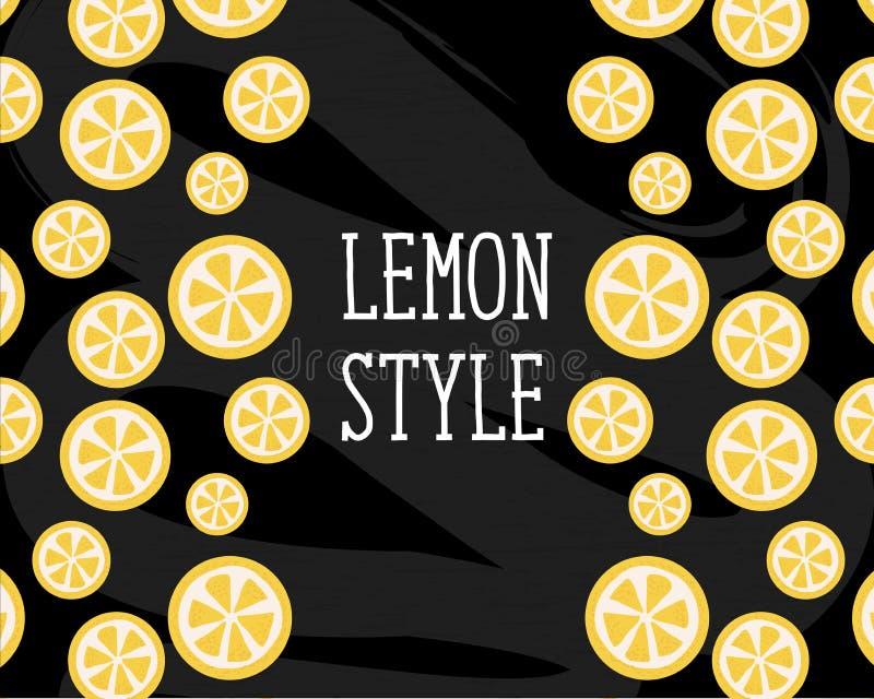 Tableau de cuisine de jaune de minimalisme d'illustration de vecteur de style de citron illustration de vecteur