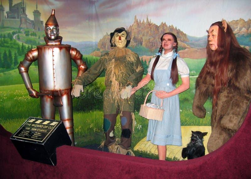 Tableau de figure de cire de film de magicien d'Oz image stock