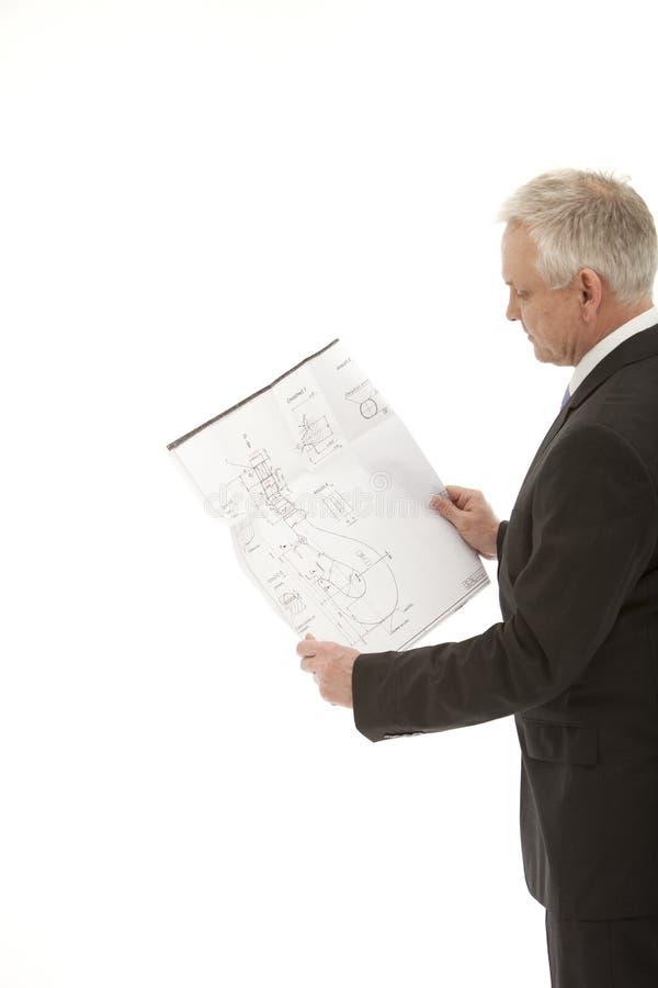 Tableau de fixation d'homme d'affaires image stock