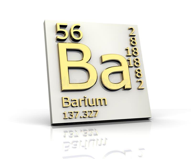 Tableau de forme de baryum des éléments périodique illustration stock
