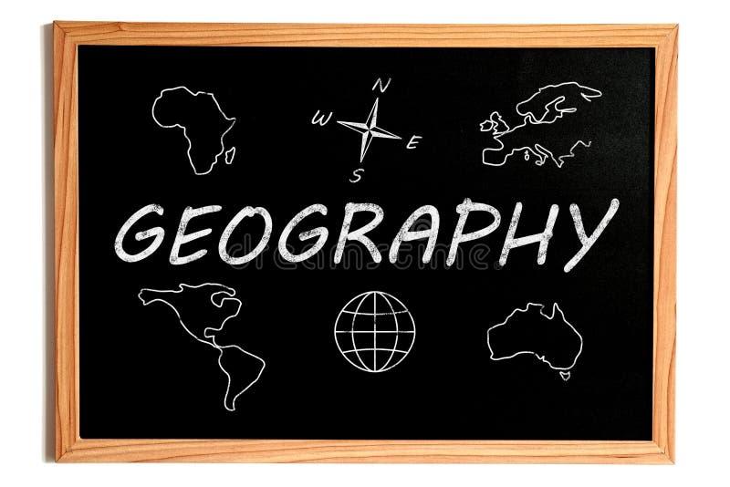 Tableau de géographie illustration de vecteur