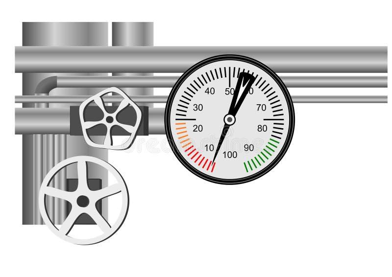 Tableau de gaz naturel illustration stock