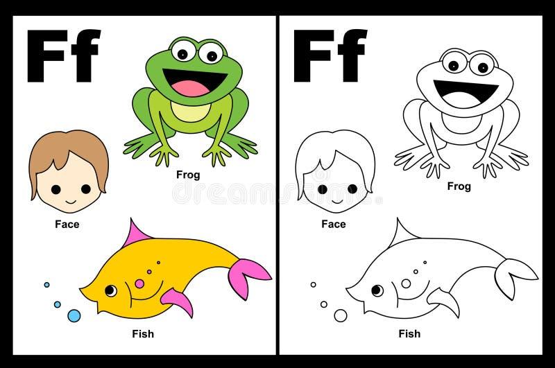 Tableau de la lettre F illustration de vecteur