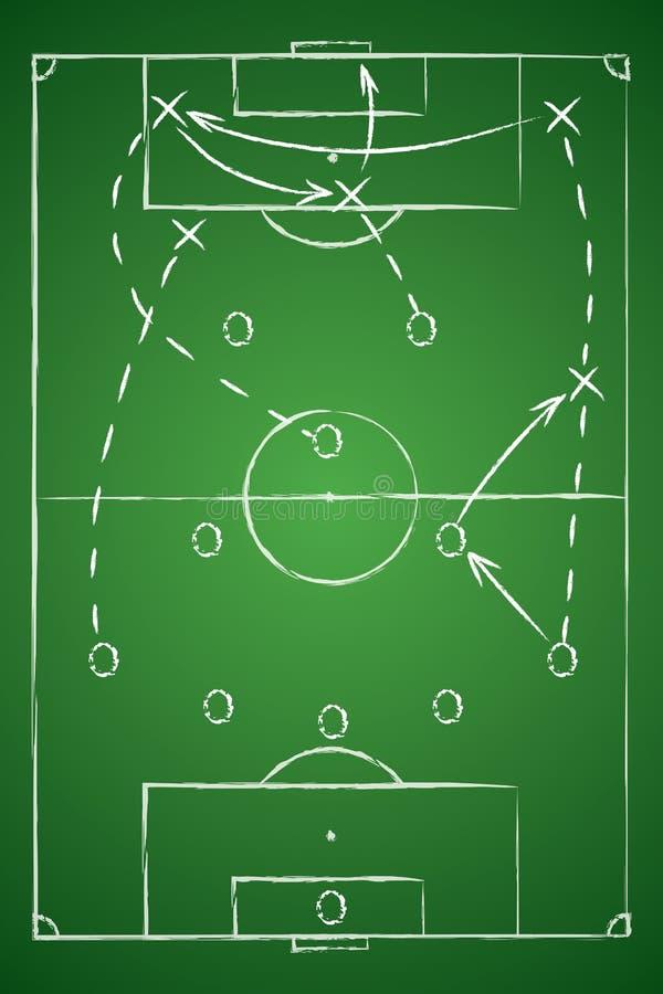 Tableau de la tactique du football Illustration de vecteur Le plan tactique illustration stock