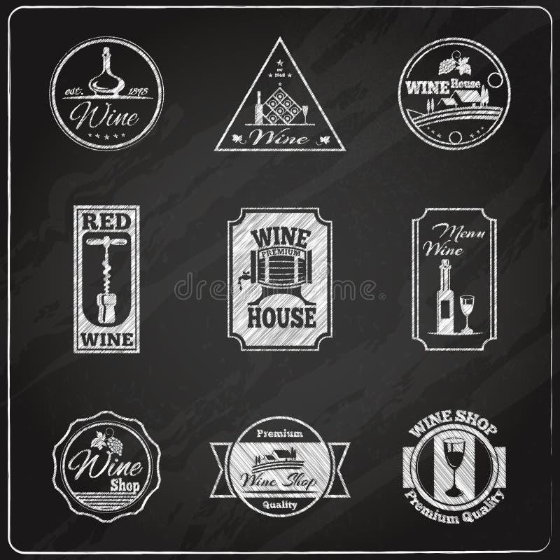Tableau de label de vin illustration de vecteur