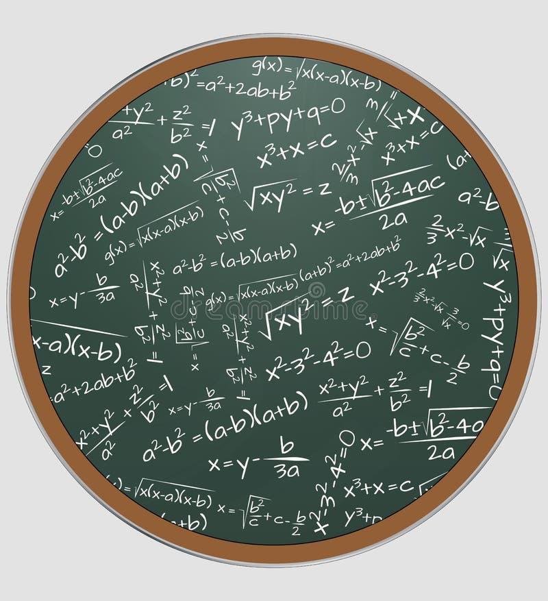 Tableau de maths de formule illustration stock