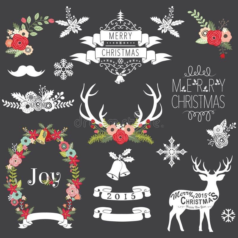 Tableau de Noël illustration de vecteur