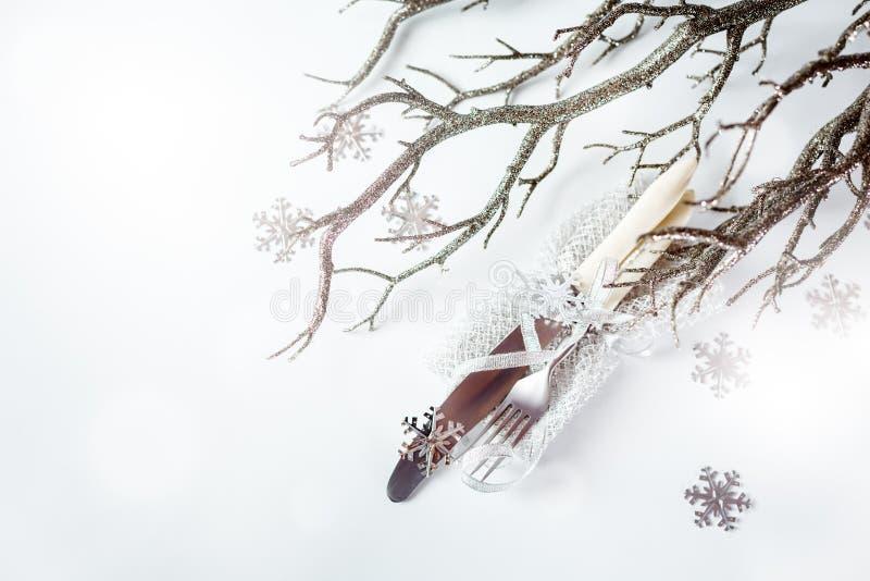 Tableau de Noël de vintage plaçant au-dessus du blanc image stock