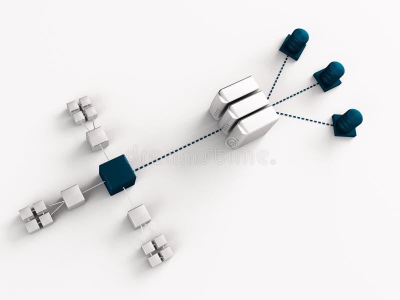 Tableau de réseau illustration stock