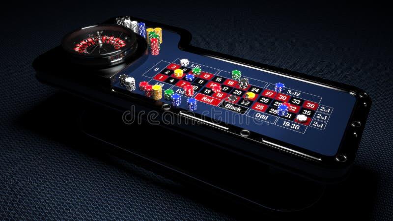 Tableau de roulette de casino illustration de vecteur
