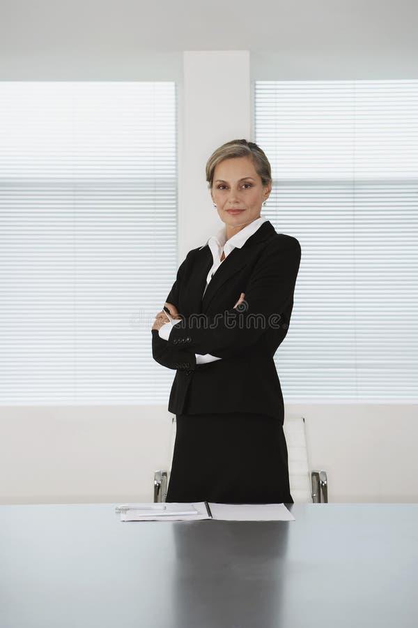 Tableau de Sitting At Conference de femme d'affaires image libre de droits