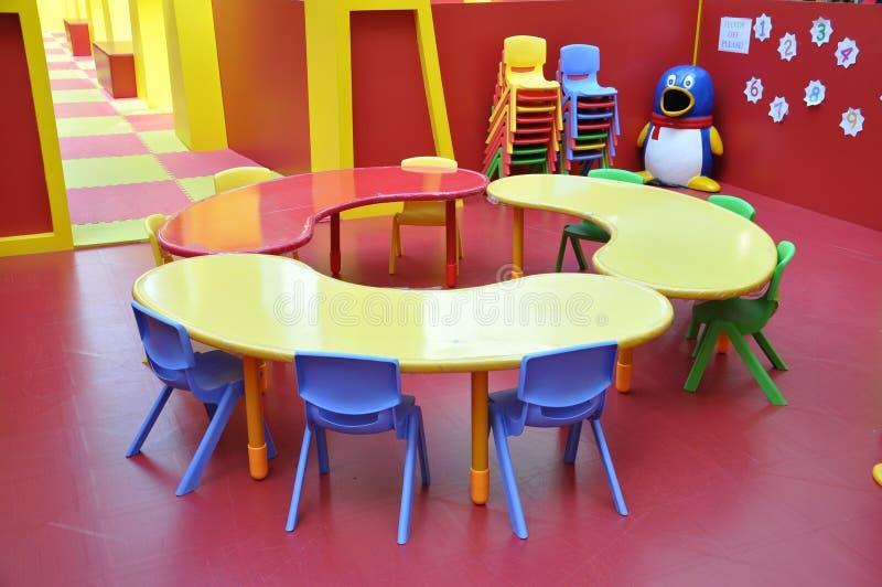 Tableau de terrain de jeux d'enfants de jardin d'enfants photo libre de droits