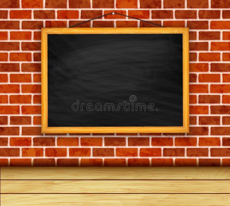 Tableau de vecteur sur le fond de mur de briques illustration stock