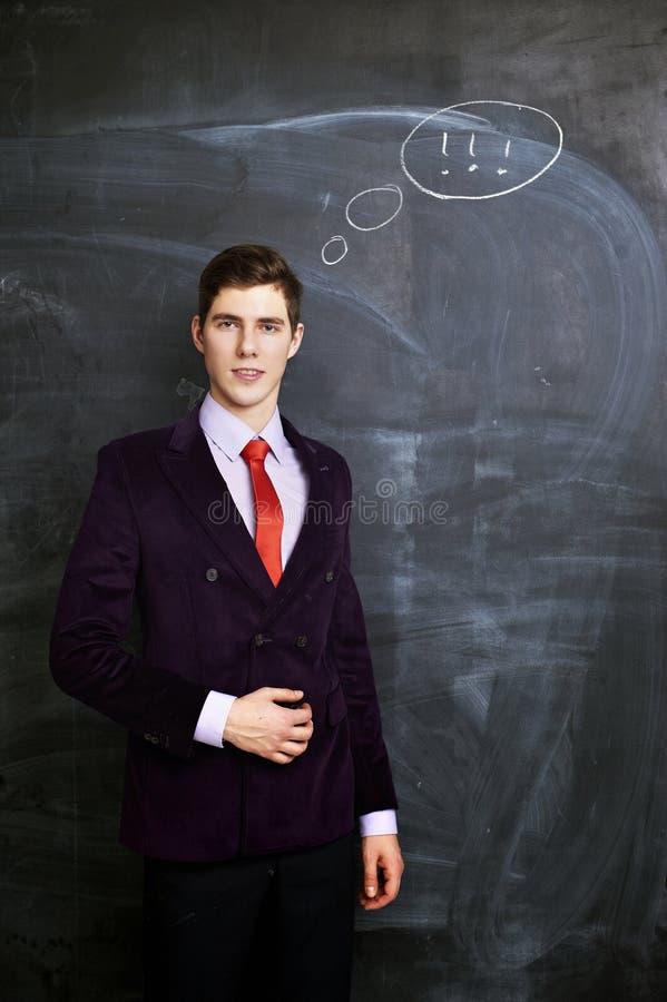 Tableau de witn d'homme d'affaires sur le fond photo libre de droits