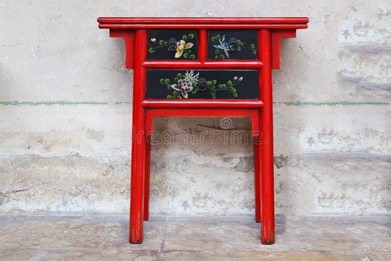 Tableau en bois rouge de beau style chinois photos libres de droits