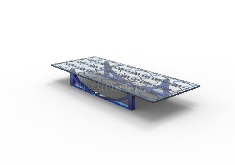 Tableau en verre de conception simple pour le salon illustration de vecteur