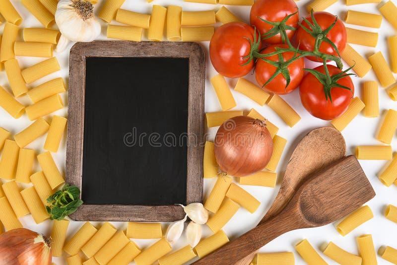 Tableau et repas italien images libres de droits