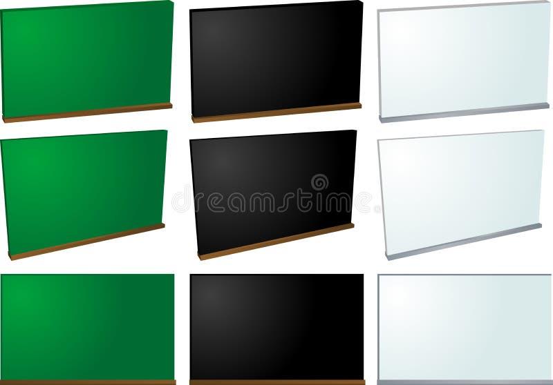 Tableau et whiteboard illustration stock