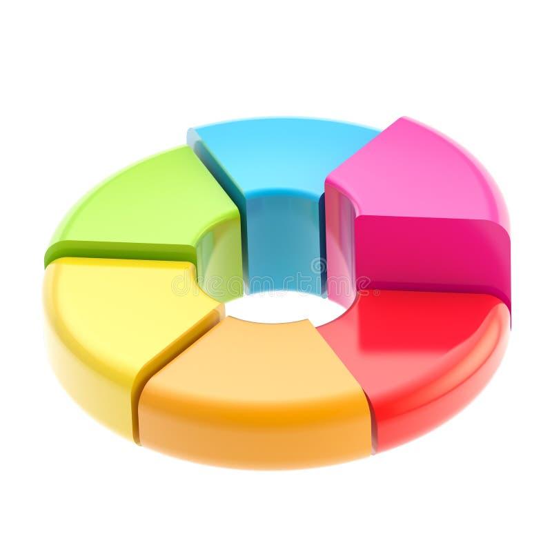 Tableau fait de six segments illustration libre de droits